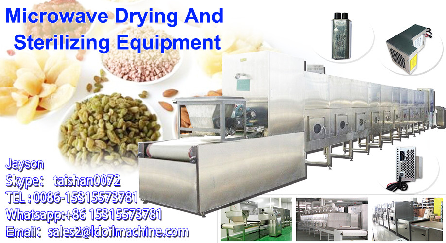 microwave horseradish drying and sterilization installations