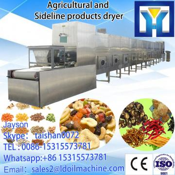 Fast continuous microwave drying and sterilization machine for ginger