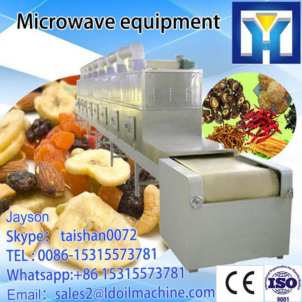 tea/herbs for machine  dring  sterilization  microwave  industrial Microwave Microwave tunnel thawing #1 image