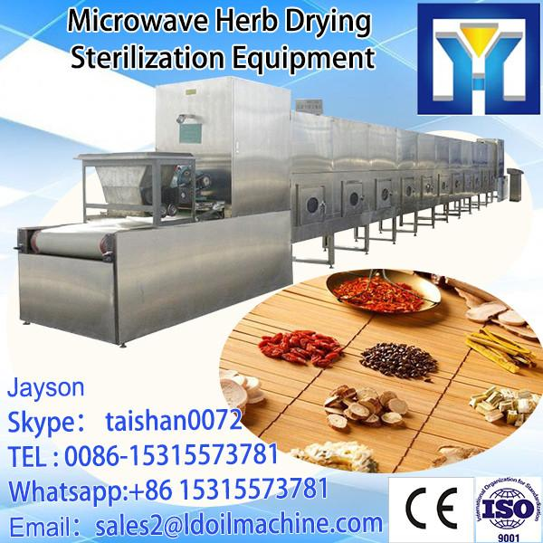 tunnel Microwave type microwave Gentian root / medical herbs drying machine /dryer /sterilizer #1 image