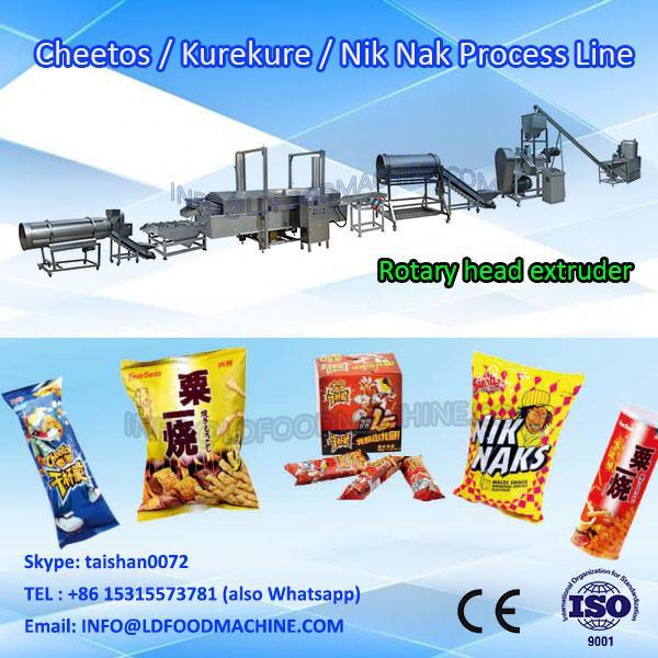 high quality nik naks kurkure snacks food extruder machinery line #1 image