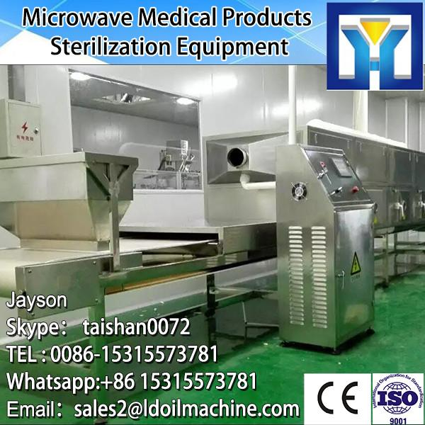 Continuous Microwave working microwave eucommiae tea dryer and sterilization processing equipment #2 image