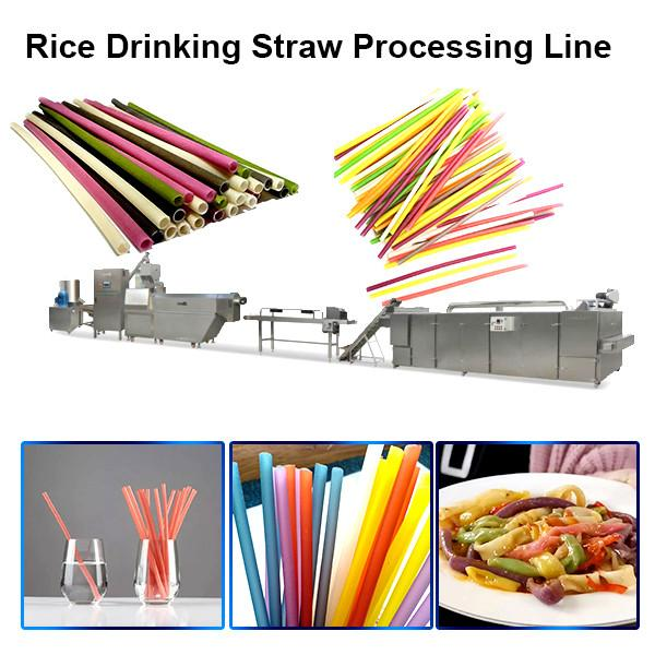 2020 Rice Pasta Wheat Disposable Drinking Straw Making Machine #2 image